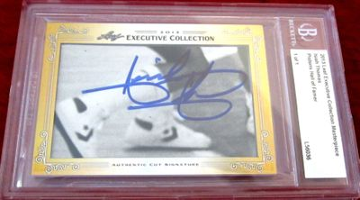 Isiah Thomas 2013 Leaf Masterpiece Cut Signature certified autograph card 1/1