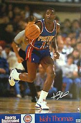 Isiah Thomas Detroit Pistons 1990 Sports Illustrated mini poster