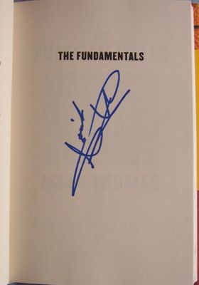 Isiah Thomas autographed The Fundamentals hardcover book