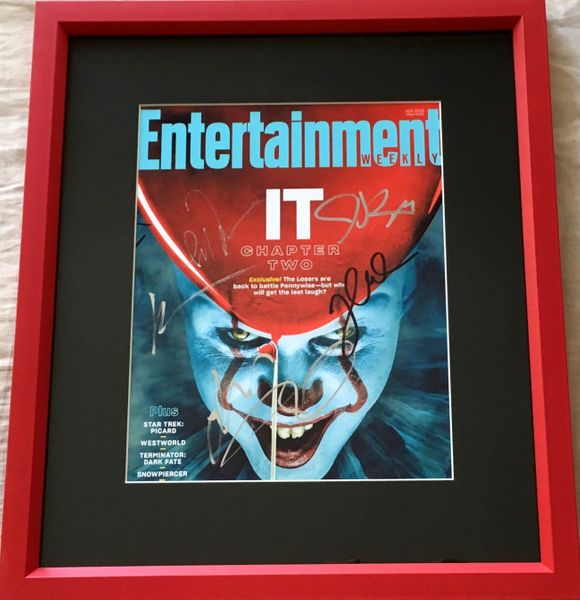It Chapter 2 cast autographed Entertainment Weekly cover framed Jessica Chastain Bill Hader James McAvoy
