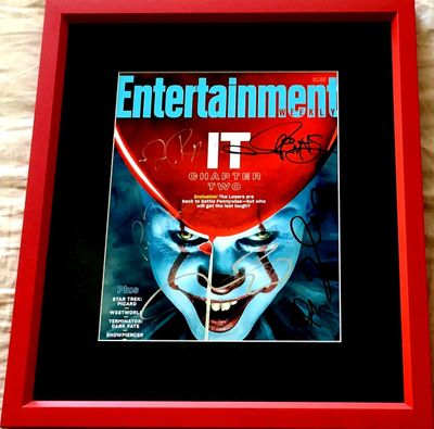 It Chapter 2 cast autographed Entertainment Weekly cover framed Jessica Chastain James McAvoy James Ransone Isaiah Mustafa
