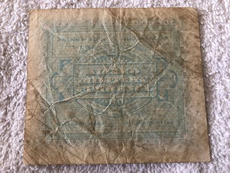 Italy 1943 10 Lire Allied Military Currency banknote