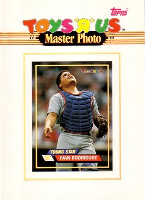 Ivan Rodriguez Texas Rangers 1993 Toys R Us 5x7 inch Master Photo card