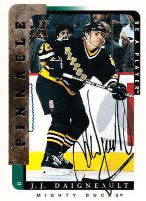 J.J. Daigneault Pittsburgh Penguins certified autograph 1996-97 Pinnacle Be A Player card