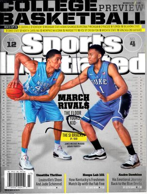 Jabari Parker autographed Duke Blue Devils 2013 Sports Illustrated (shorthand)