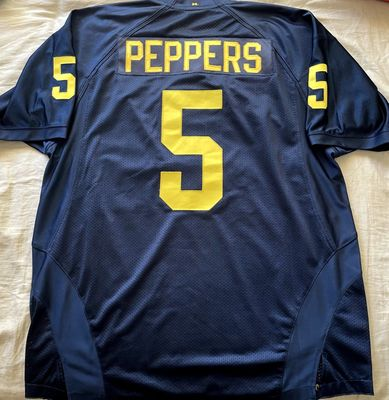Jabrill Peppers Michigan Wolverines 2014 and 2015 authentic Adidas game model jersey NEW
