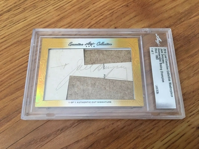 Jack Dempsey 2016 Leaf Masterpiece Cut Signature certified autograph card 1/1 JSA