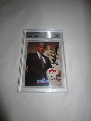 Jack Kemp autographed Buffalo Bills 1991 Pro Line card graded BGS 9 MINT JSA