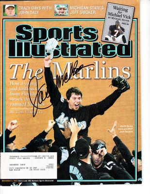 Jack McKeon autographed Florida Marlins 2003 World Series Champions Sports Illustrated