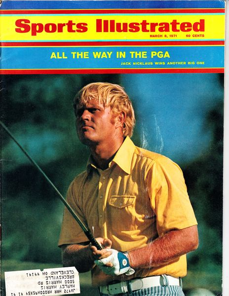 Jack Nicklaus 1971 PGA Championship Sports Illustrated