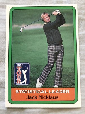 Jack Nicklaus 1981 Donruss golf Statistical Leader card NrMt-Mt