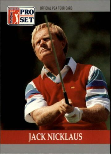 Jack Nicklaus 1990 Pro Set golf card