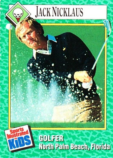 Jack Nicklaus 1990 Sports Illustrated for Kids golf card