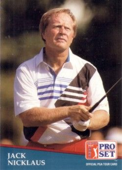 Jack Nicklaus 1991 Pro Set golf card