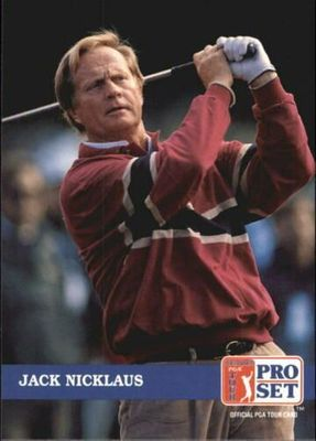 Jack Nicklaus 1992 Pro Set golf card