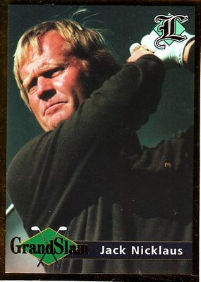 Jack Nicklaus 2001 Legends set of 2 golf cards (Grand Slam and 6 Time Masters Champion)