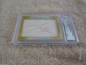 Jack Nicklaus and Annika Sorenstam 2014 Leaf Masterpiece Cut Signature certified autograph card 1/1 JSA