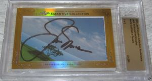 Jack Nicklaus and Fred Couples 2013 Leaf Masterpiece Cut Signature certified autograph card 1/1 PSA/DNA