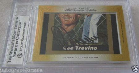 Jack Nicklaus and Lee Trevino 2014 Leaf Masterpiece Cut Signature certified autograph card 1/1 JSA