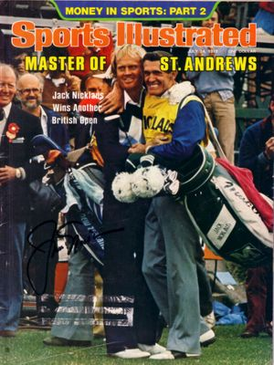 Jack Nicklaus autographed 1978 British Open Sports Illustrated