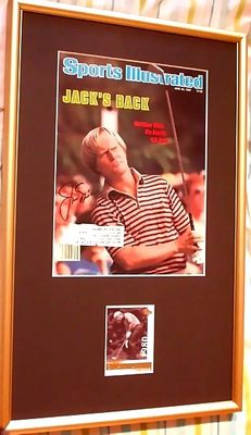 Jack Nicklaus autographed 1980 U.S. Open golf Sports Illustrated cover matted and framed