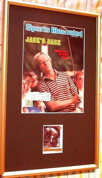 Jack Nicklaus autographed 1980 U.S. Open golf Sports Illustrated cover matted & framed