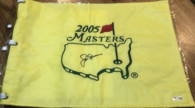 Jack Nicklaus autographed 2005 Masters golf pin flag (BAS authenticated)