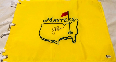Jack Nicklaus autographed Masters undated golf pin flag (BAS authenticated)