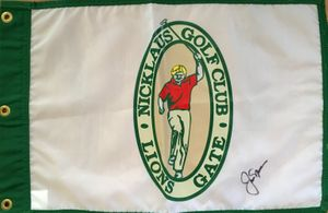 Jack Nicklaus autographed Nicklaus Golf Club at Lions Gate pin flag