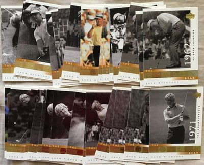 Jack Nicklaus 2001 Upper Deck golf lot of 20 Golden Bear subset cards