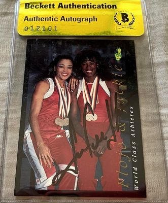 Jackie Joyner-Kersee autographed 1992 Classic World Class Athletes card (BAS authenticated)