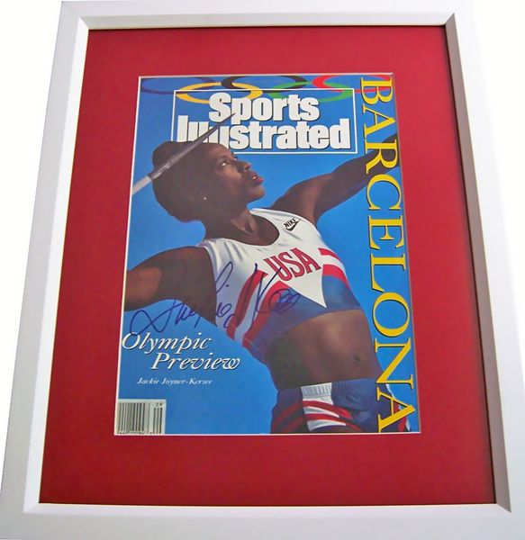 Jackie Joyner-Kersee autographed 1992 Sports Illustrated cover matted & framed