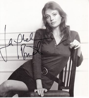 Jacqueline Bisset autographed 7x8 inch vintage black and white photo