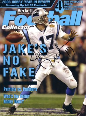 Jake Delhomme autographed Carolina Panthers Beckett Football magazine cover