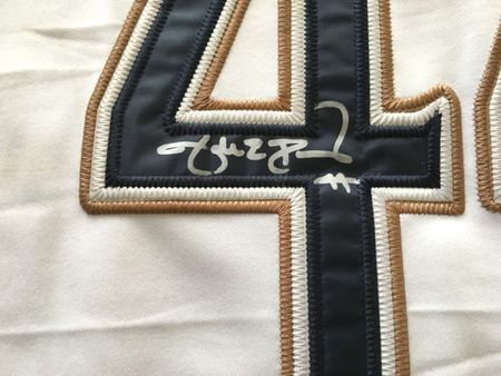 Jake Peavy autographed San Diego Padres authentic Majestic home white game model jersey