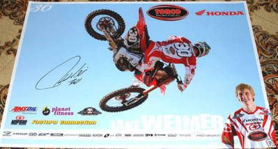 Jake Weimer autographed Honda Racing motocross or supercross mini poster