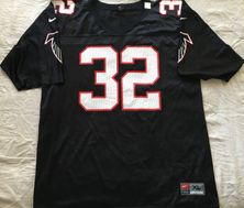 Jamal Anderson Atlanta Falcons authentic Nike black replica size XL jersey NEW
