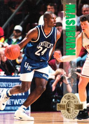 Jamal Mashburn Kentucky Wildcats 1993 Classic 4-Sport Draft Picks jumbo insert card #3