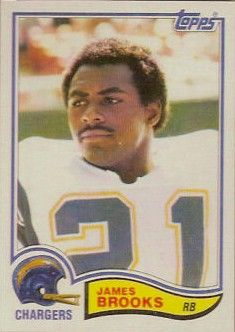 James Brooks San Diego Chargers 1982 Topps Rookie Card #226 NrMt