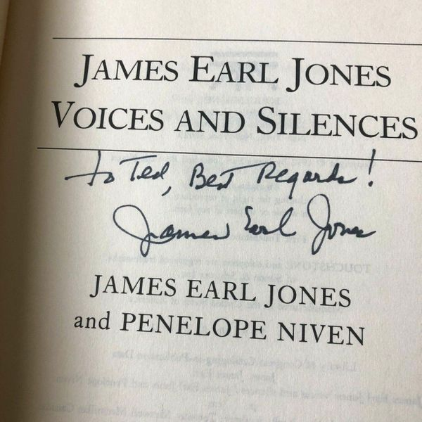 James Earl Jones autographed Voices and Silences paperback book (to Ted)