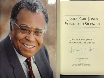 James Earl Jones autographed Voices and Silences hardcover book