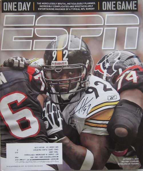 James Harrison autographed Pittsburgh Steelers 2011 ESPN Magazine