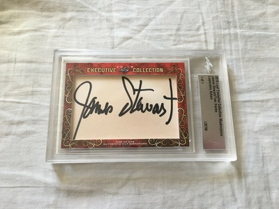 James (Jimmy) Stewart and Tom Hanks 2018 Leaf Masterpiece Cut Signature certified autograph card 1/1 JSA