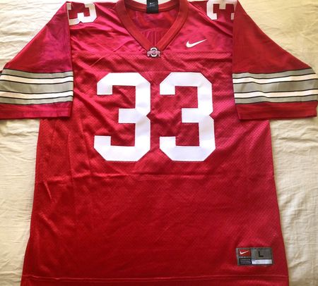 James Laurinaitis Ohio State Buckeyes authentic Nike red stitched jersey