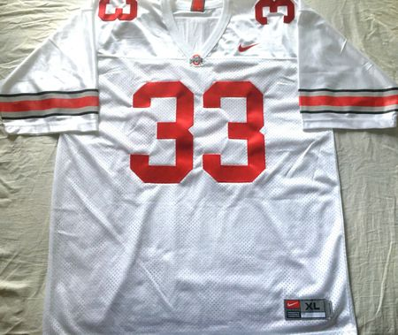 James Laurinaitis Ohio State Buckeyes authentic Nike white stitched size XL jersey NEW