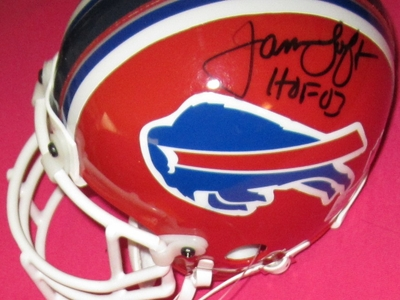 James Lofton autographed Buffalo Bills authentic mini helmet