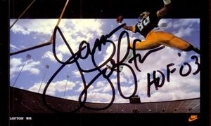 James Lofton autographed Green Bay Packers 1985 Nike card