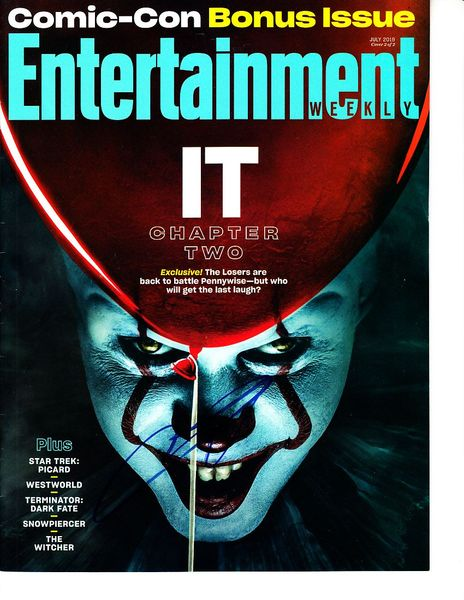 James McAvoy autographed It Chapter 2 Entertainment Weekly 2019 Comic-Con magazine