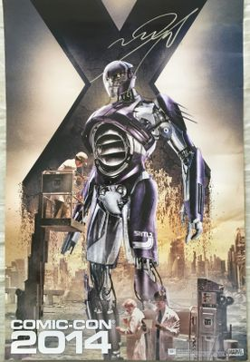 James McAvoy autographed X-Men Days of Future Past 2014 Comic-Con exclusive mini movie poster