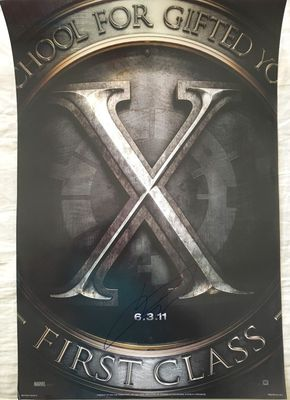 James McAvoy autographed X-Men First Class 2011 mini teaser movie poster